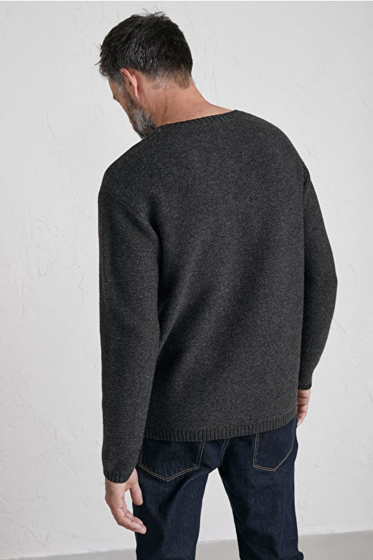 Men's Bosilliack Jumper, Soft Merino Crew Neck Jumper