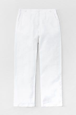 Restharrow Trousers, Heavyweight Linen Wide Leg Trousers - Seasalt