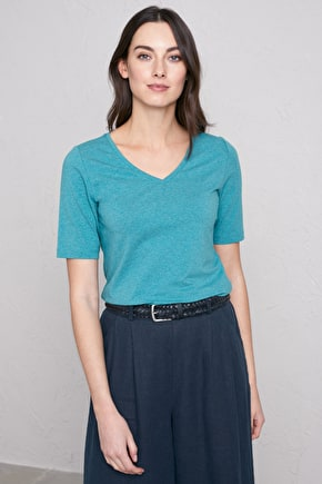 Lanlivery Top - Organic Cotton V-Neck - Seasalt Cornwall