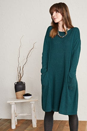 Heartfelt Dress. Fine Knit Swing Dress - Seasalt