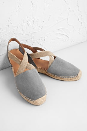 Sunset Stroll Suede Leather Espadrille - Seasalt
