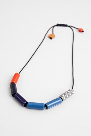 Frame Necklace, Ceramic Beads with a glazed finish - Seasalt Cornwall