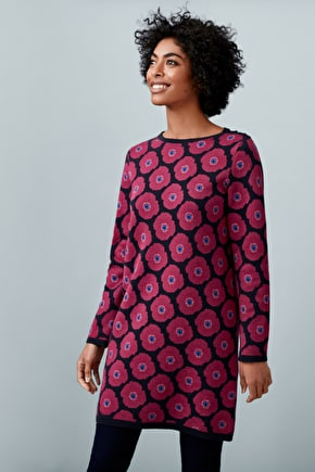 Bakesdown Tunic - Heavyweight Knitted Floral Tunic - Seasalt Cornwall