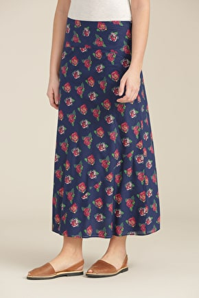 Panel Skirt | Women's printed cotton maxi skirt | Seasalt