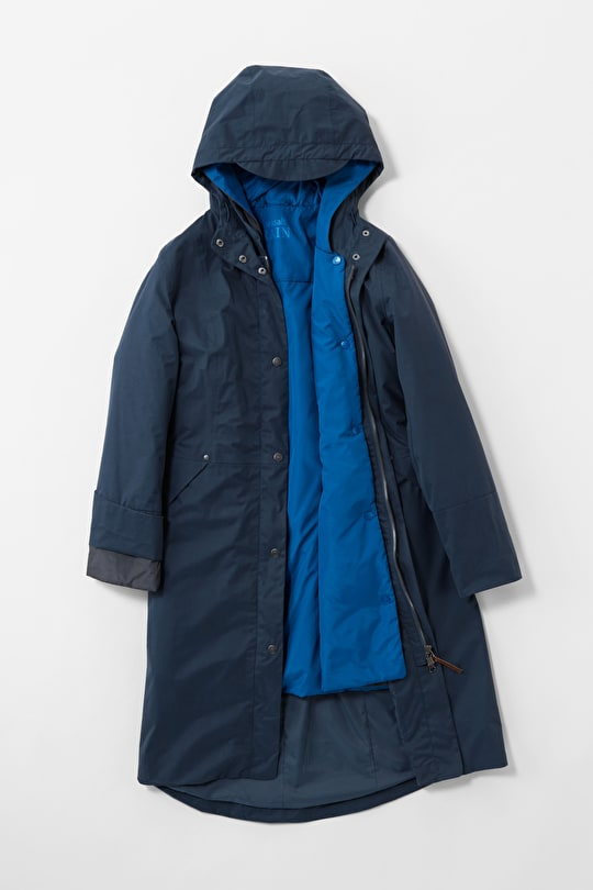 Flagship Coat - Long waterproof padded coat - Seasalt