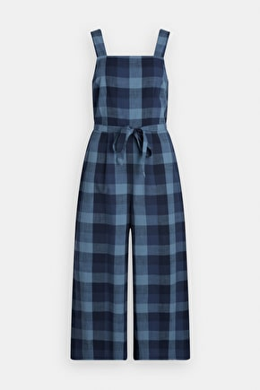 Dove Street Jumpsuit, Checked Cotton Jumpsuit - Seasalt Cornwall
