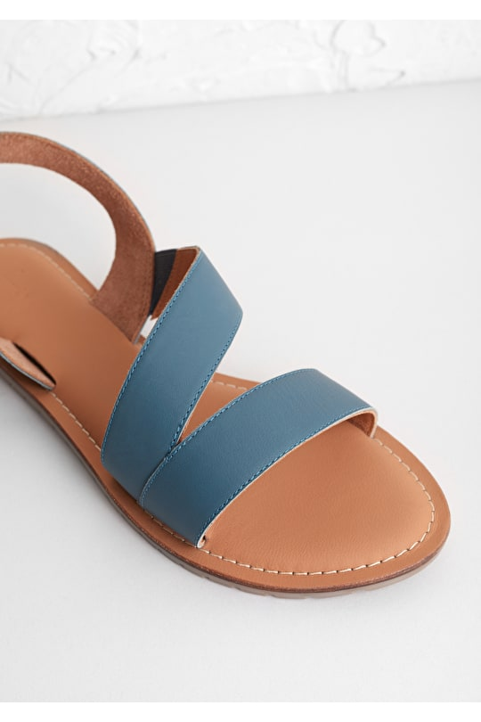 Sun Terrace Sandal, Soft Leather or Canvas Flat Sandal - Seasalt Cornwall