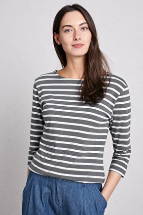 Organic Cotton Breton Striped Top, 2 for £40  - Seasalt