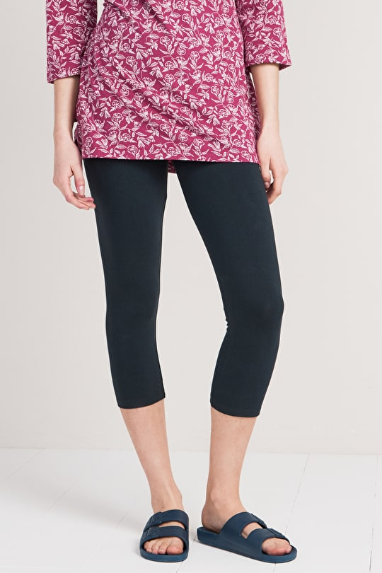 Soft Organic Cotton Cropped Charming Leggings - Seasalt