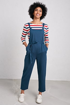 Pednvounder Dungarees, Relaxed Cotton Linen Twill Dungarees - Seasalt Cornwall