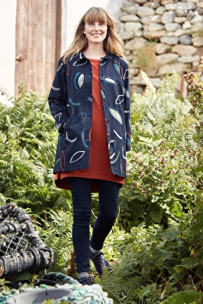 Boswens Coat, Artisic Cotton Canvas Womens Jacket - Seasalt Cornwall