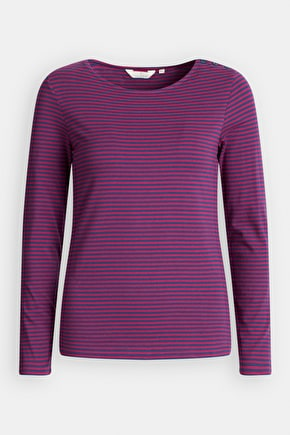 Low Light Top, Soft Striped Organic Cotton Shirt