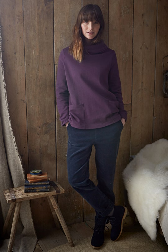 Log Burner Sweatshirt, Soft Cotton Jersey Sweatshirt - Seasalt Cornwall
