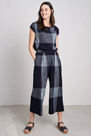 Polhawn Culottes, Cotton Chambray Wide Leg Culottes - Seasalt Cornwall