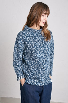 Footpath Top, Easy Fitting Cotton Jersey Reversible Top - Seasalt Cornwall