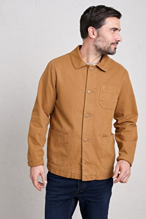 Men's Tidal Pool Jacket, Cotton Canvas Work Jacket - Seasalt Cornwall