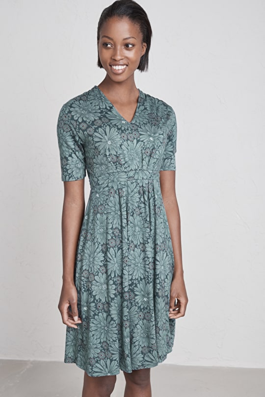 Wheal Rose Dress, Bamboo and Cotton Knee Length Dress - Seasalt