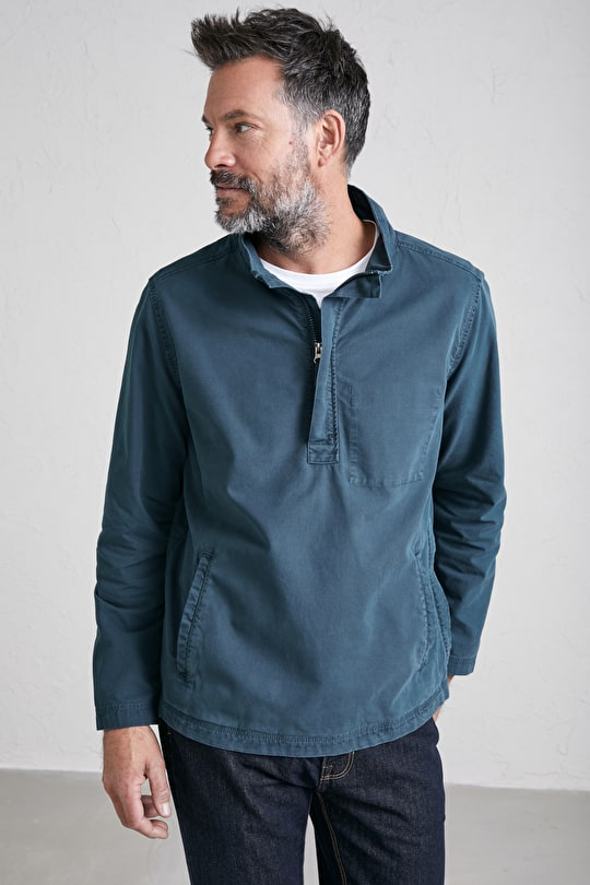 Men's Isla Smock, Cotton Canvas Sun Faded Smock