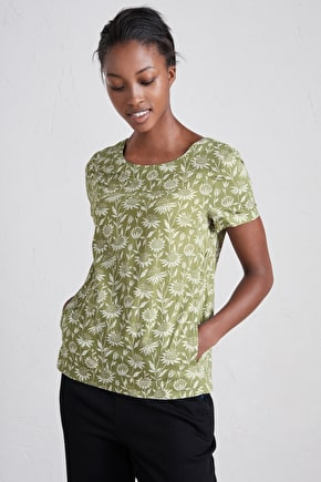 Trengrouse Top, Lightweight Cotton Voile T-Shirt - Seasalt
