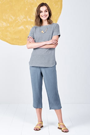 Carlew, Soft Cotton linen blend t-shirt top - Seasalt