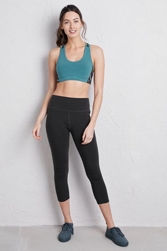 Get-Up-and-Go Bra Top, Stretchy Bamboo & Cotton Sports Bra  - Seasalt Cornwall