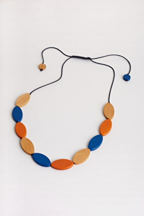 Oval Necklace, Sustainable Wood Bead Necklace - Seasalt Cornwall