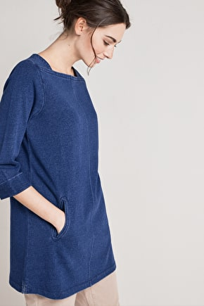Clean Slate, Indigo Sweatshirt Tunic - Seasalt