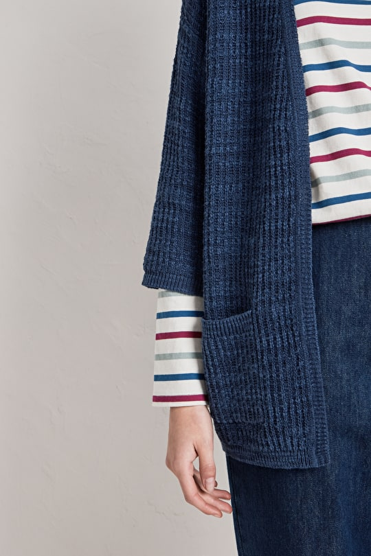 Sand Hopper, Linen and Cotton Knitted Cardigan - Seasalt