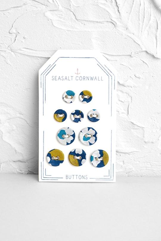 Laundry Buttons, Fabric Covered Buttons - Seasalt Cornwall