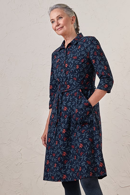 Flattering Needlecord Shirt Dress - Seasalt