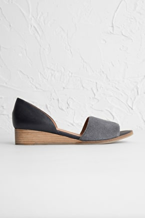 Ida Peep Toe Wedge Shoes - Seasalt