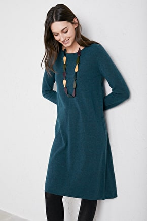 Sunset Dress, A-line Merino Knitted Dress - Seasalt