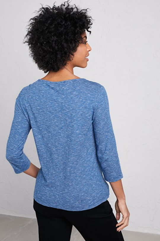 Drawing Ink Top, Soft & Breathable Cotton Jersey Top - Seasalt Cornwall