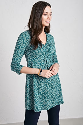 Lemon Tunic. Flattering Organic Cotton Tunic Top - Seasalt