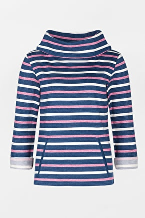 Boslowick Sweatshirt - Striped cowl jumper - Seasalt