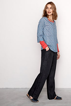 Carhales, loose wide leg linen trousers - Seasalt