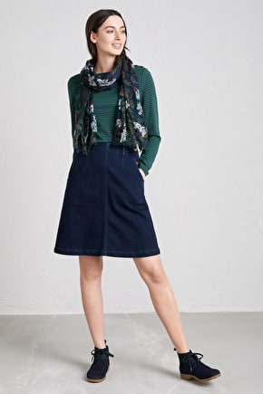 Waterdance Skirt, Above The Knee Denim Skirt