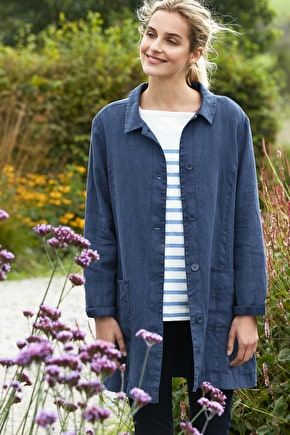 Woodcarver Linen Jacket, Cotton Lined Jacket - Seasalt