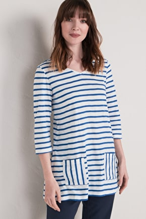 Billacott Tunic | Striped cotton tunic top | Seasalt