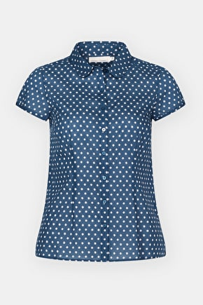 Semi Fitted Polka Dot Cotton Blouse Rushmaker Shirt - Seasalt