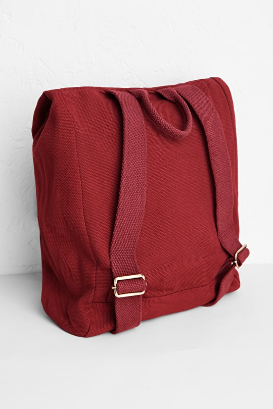 Bookshelf, Cotton Canvas Backpack - Seasalt