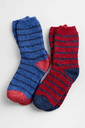 Women's Fluffies Recycle Fibre Socks Pack Of 2 - Seasalt Cornwall