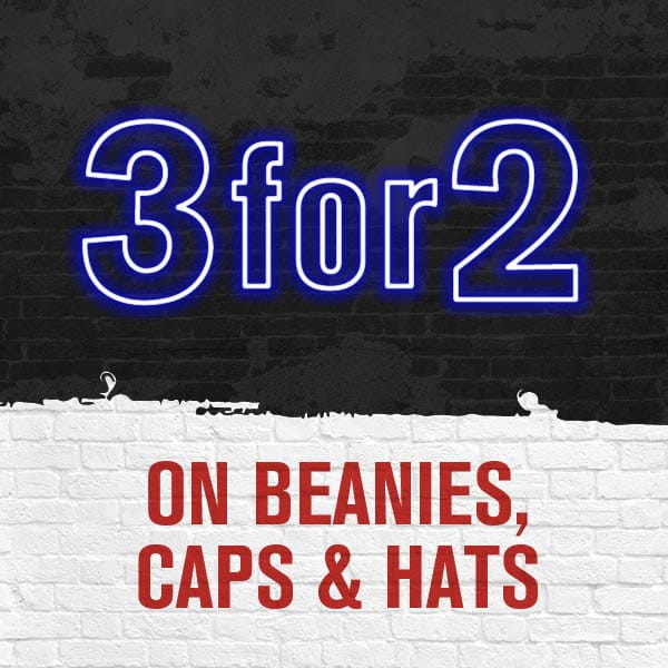 3 For 2 On Selected Beanies Caps and Hats