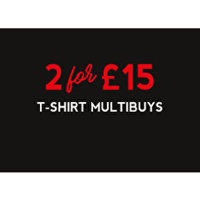 T-Shirt Multibuys: 2 For £15