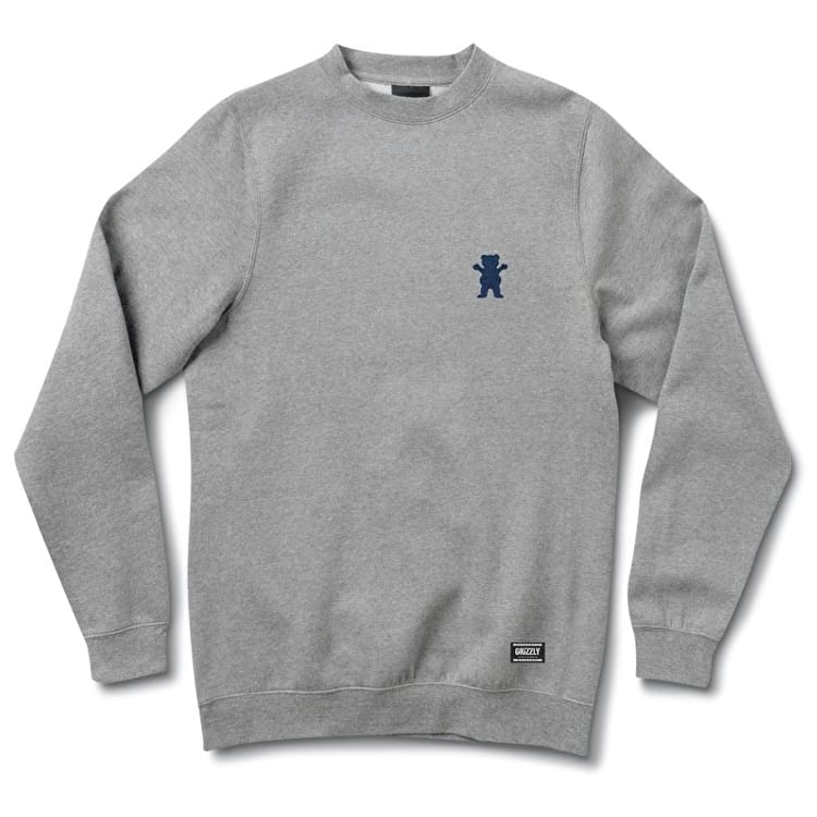 Grizzly OG Bear Embroidered Crewneck - Heather