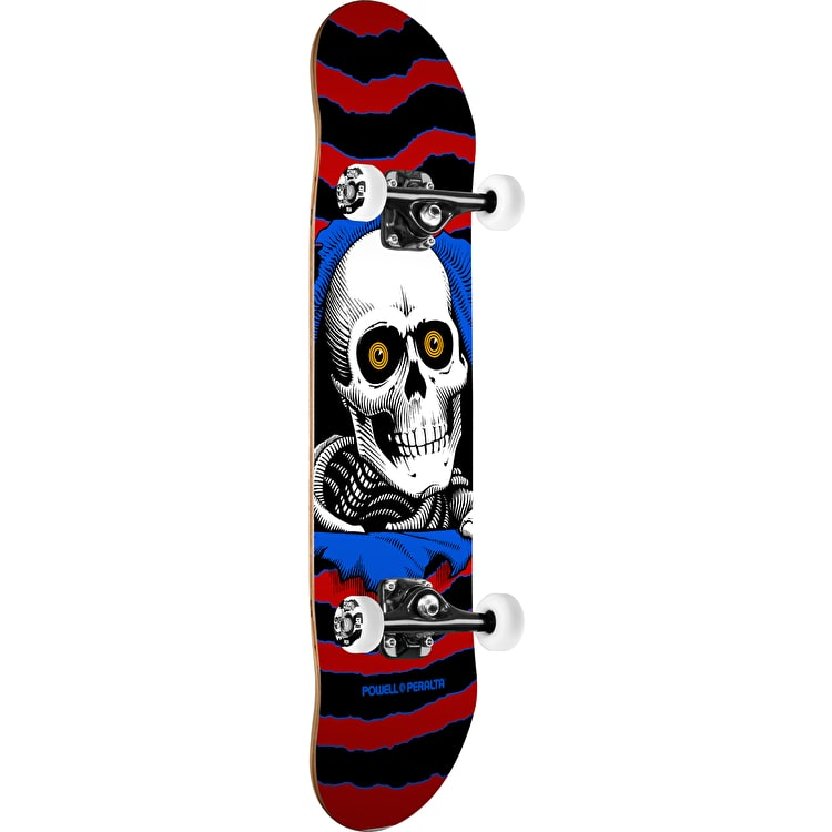 Powell Peralta One Off Ripper Complete Skateboard - Red/Blue 7.5""