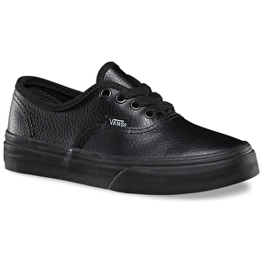Vans Authentic Kids Shoes - (Leather) Black/Black