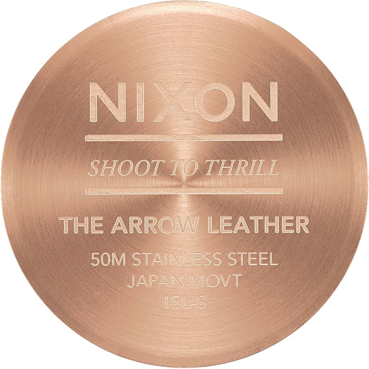 Nixon Arrow Leather Womens Watch - Rose Gold/Indigo/Black