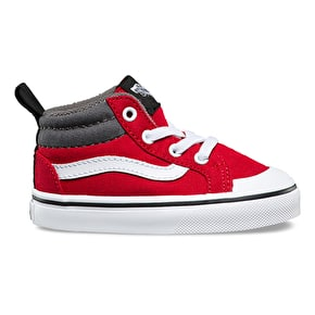 Vans Old Skool Toddler Shoes - (Canvas) Racing Red/Pewter