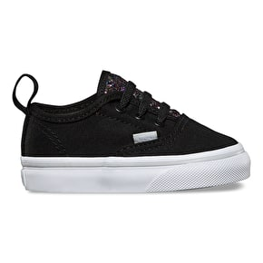 Vans Authentic V Lace Toddler Shoes - (Glitter Pop) Black
